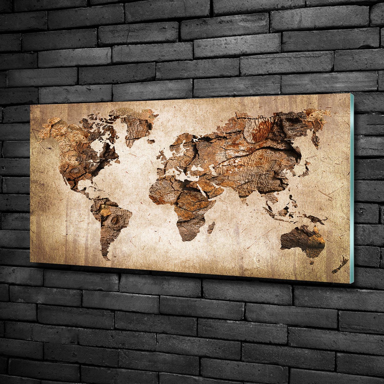 glas bild wandbilder druck auf glas 100x50 landkarten. Black Bedroom Furniture Sets. Home Design Ideas