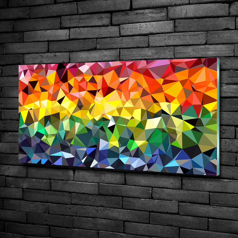 Glas Bild Wandbilder Druck Auf Glas 100x50 Deko Kunst Geometrische Figuren Ebay