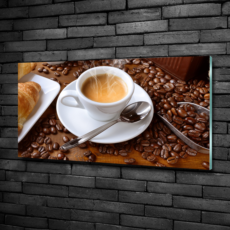 Glas-Bild Wandbilder Druck auf Glas 100x50 Essen /& Getränke Aromatischer Kaffee