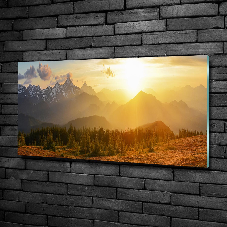 Glas-Bild Wandbilder Druck auf Glas 100x50 Deko Landschaften Berge See Tatra