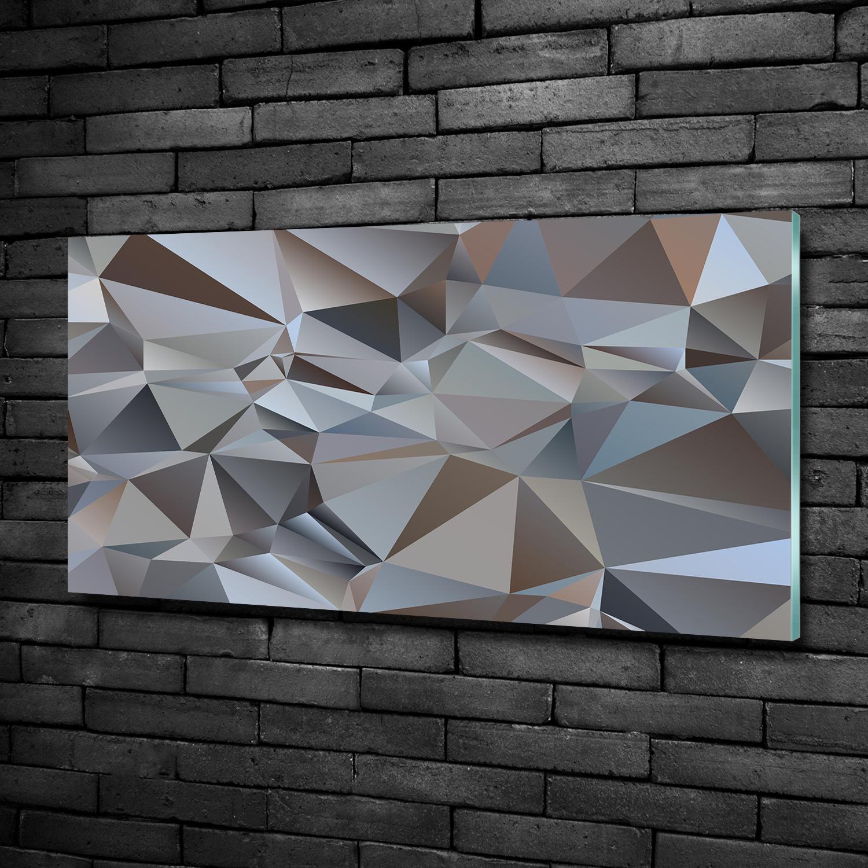 Wandbild Glas-Bild Druck auf Glas 100x50 Deko Kunst Abstrakte Wellen
