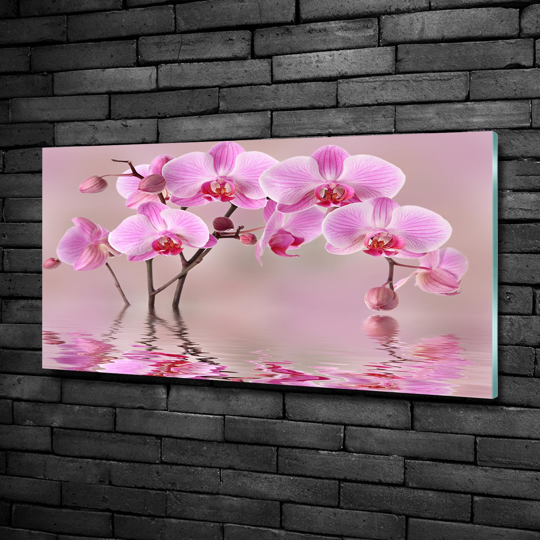 Wandbild Glas-Bild Druck auf Glas 100x50 Deko Blumen /& Pflanzen Rosa Orchidee