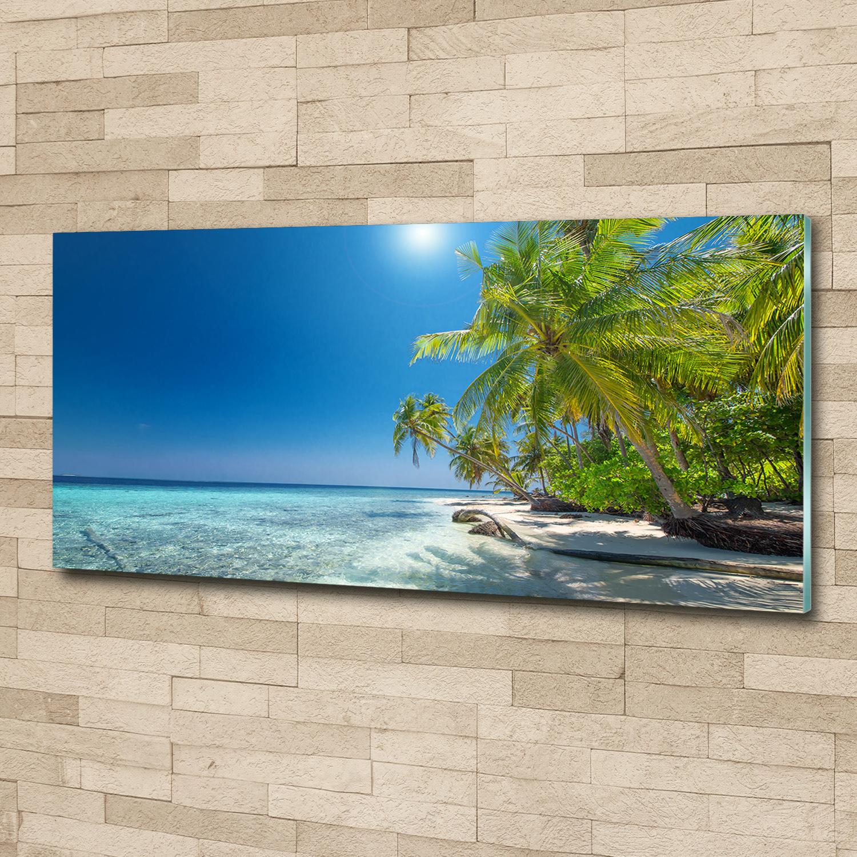 Acrylglas-Bild Wandbilder Druck 125x50 Deko Landschaften Tropischer Strand