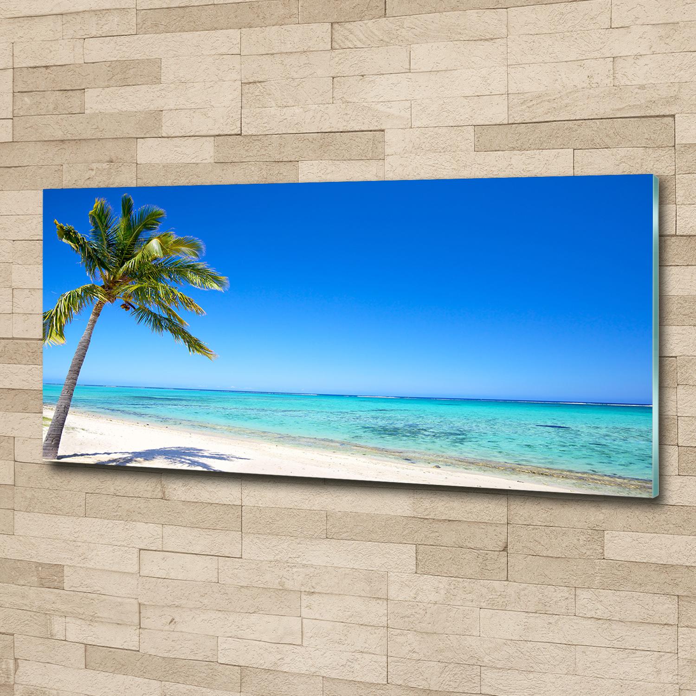 Glas-Bild Wandbilder Druck auf Glas 100x50 Deko Landschaften Felsen am Strand