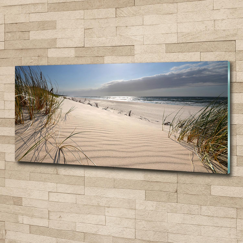 Glas-Bild Wandbilder Druck auf Glas 125x50 Deko Landschaften Weg zum Strand
