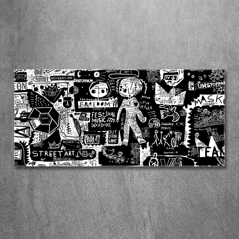 Leinwandbild Kunst-Druck 120x60 Bilder Teenager Graffiti