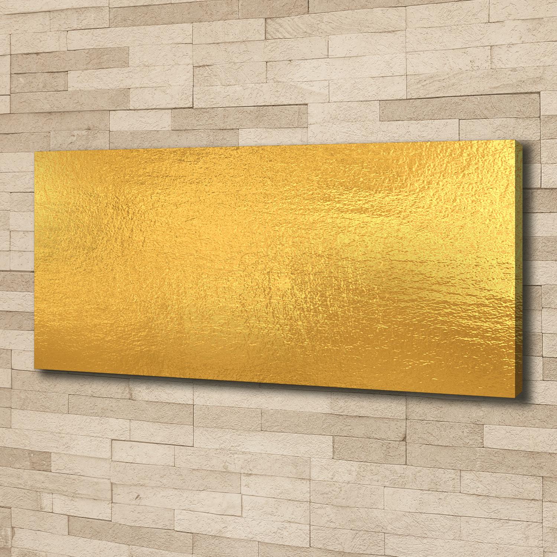 Leinwandbild Kunst-Druck 125x50 Bilder Sonstige Goldene Folie