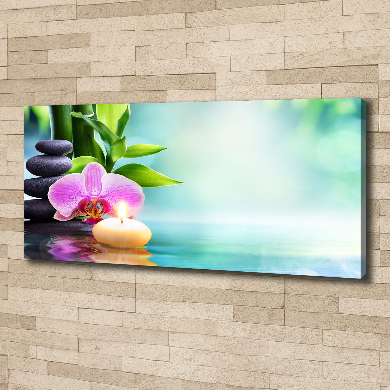 Glasbilder Wandbild Druck auf Glas 125x50 Bambusrohre Blume Pflanzen