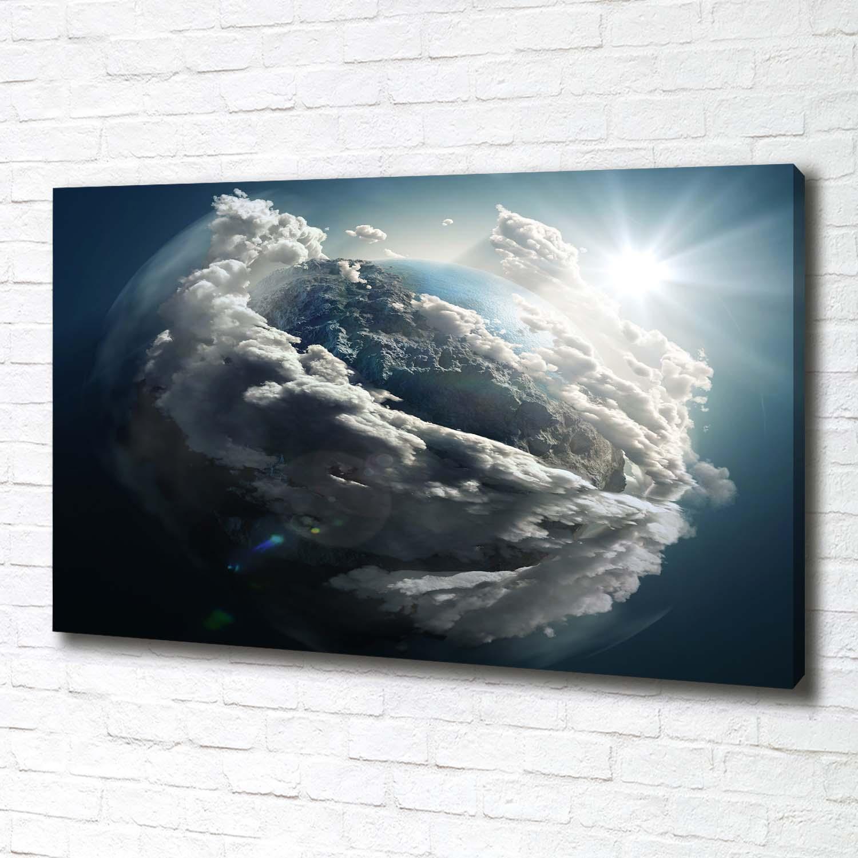 Leinwandbild Kunst-Druck 100x50 Bilder Weltall Planet Erde
