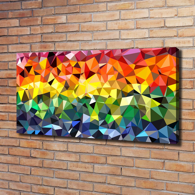 Leinwandbild Kunst Druck 120x60 Bilder Kunst Geometrische Figuren Ebay