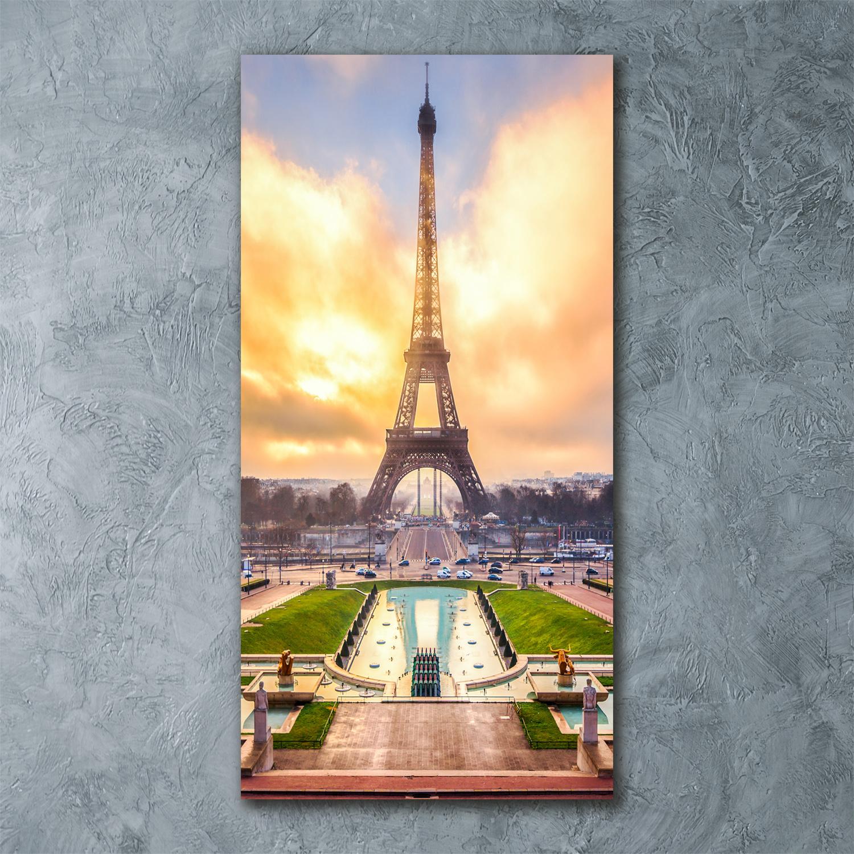 Wandbild Kunst-Druck auf Hart-Glas senkrecht 60x120 Italienische Straßen