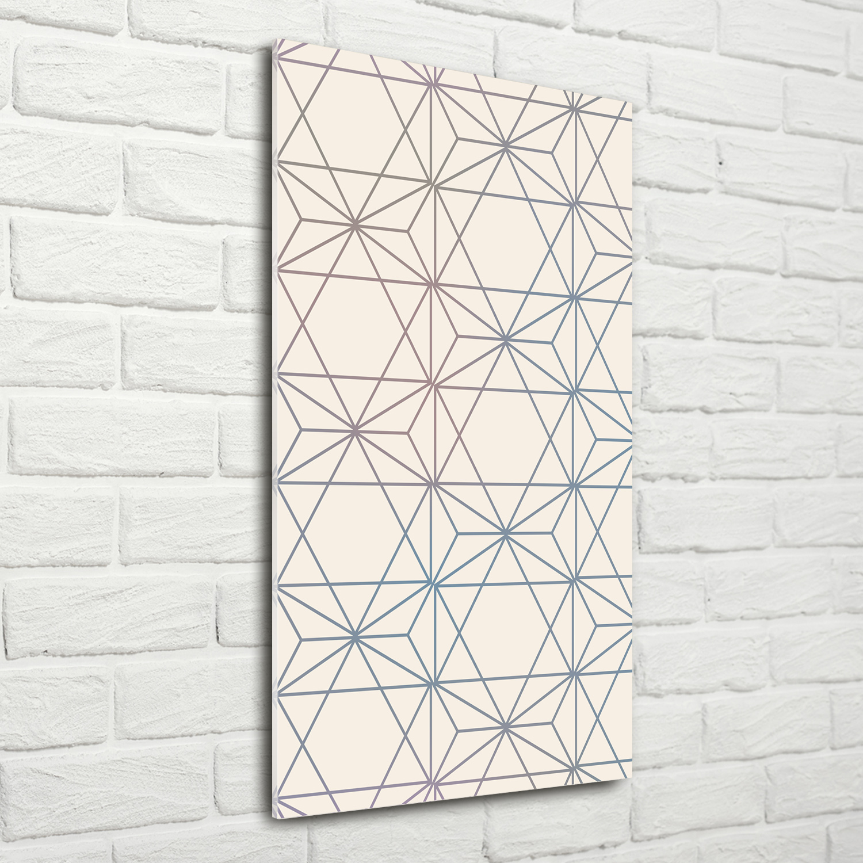 Mobel Wohnen Glasbild Echtglas Wandbild 078696fw 3d Graue Geometrische Figuren Abstrakt Kunst Bilder Drucke Metagal Com Br