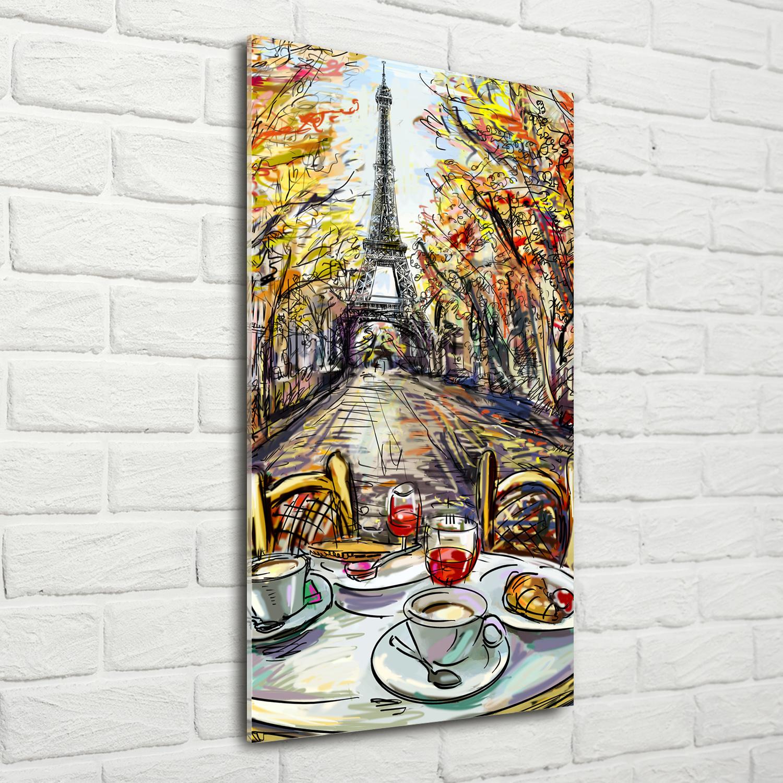 Wandbild Kunst-Druck auf Hart-Glas senkrecht 70x100 Gasse