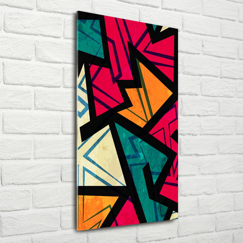 Wandbild Kunst Druck Auf Hart Glas Senkrecht 70x140 Geometrische Figuren Ebay