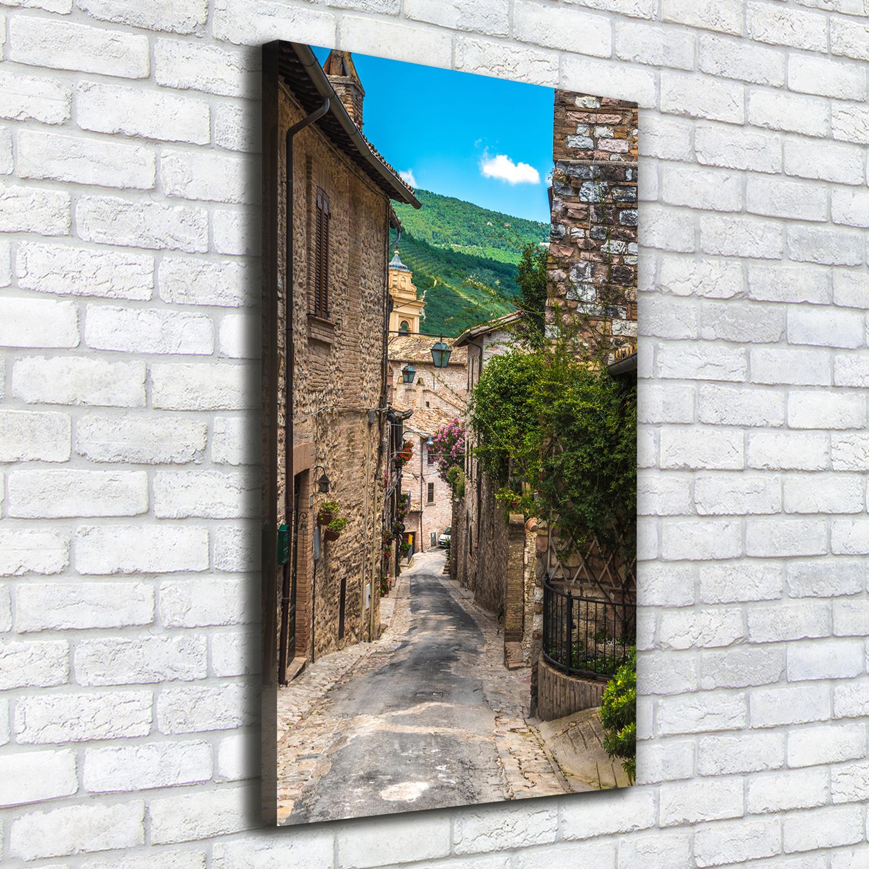 Leinwand-Bild Kunstdruck Hochformat 50x100 Bilder Bezaubernde Gasse