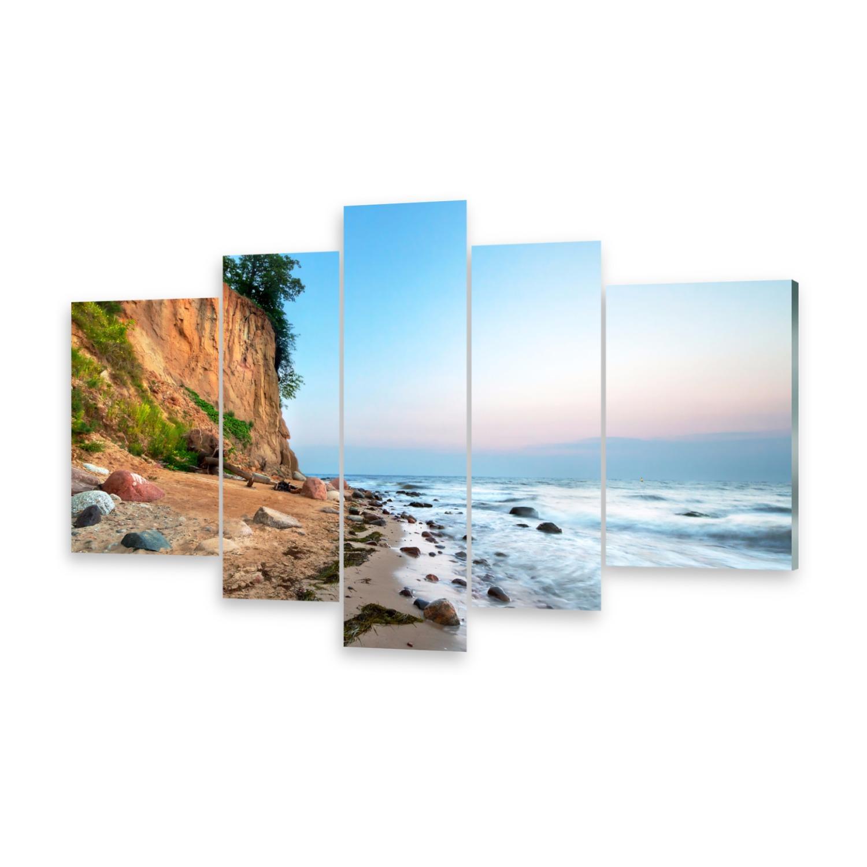 Glasbilder Wandbild Druck auf Glas Klippe Ostsee