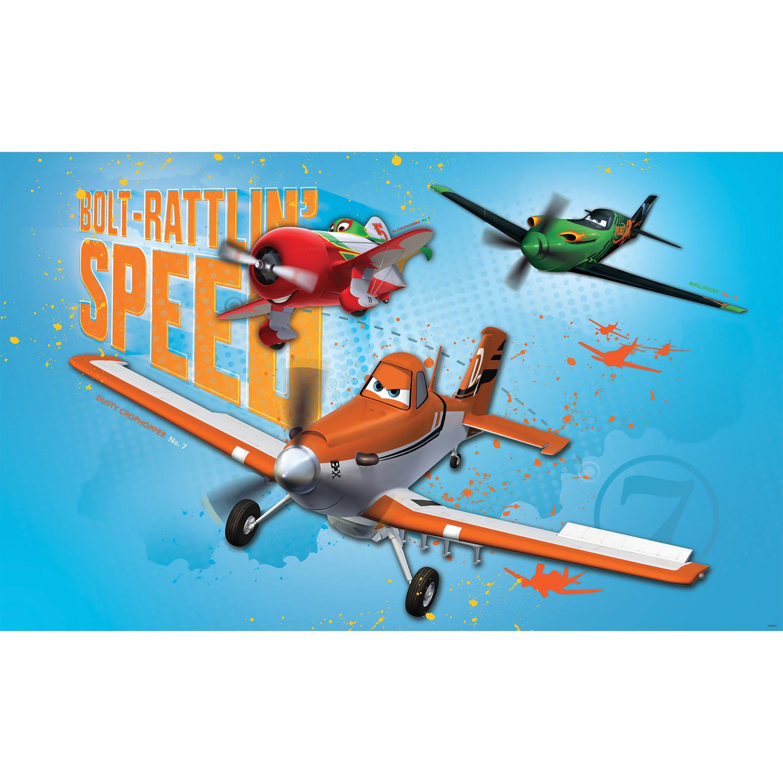 Papier-Fototapete Tapete Kinderzimmer Planes Disney Dusty Ripslinger ...