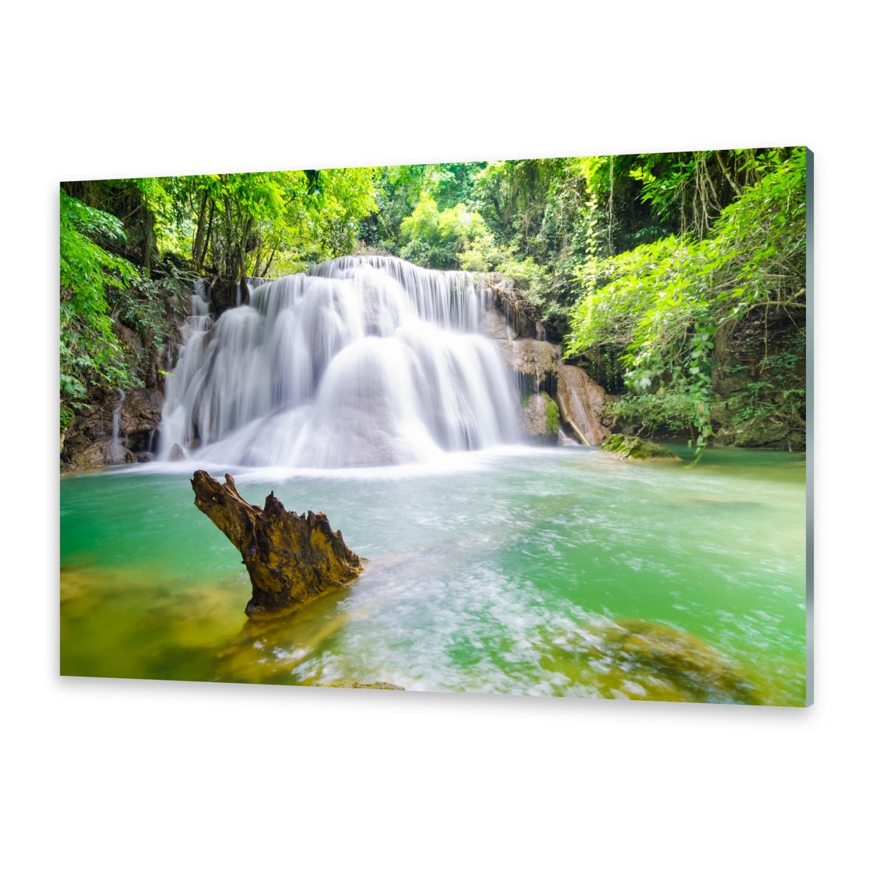 Acrylglasbilder Wandbild aus Plexiglas® Bild Wasserfall im Wald