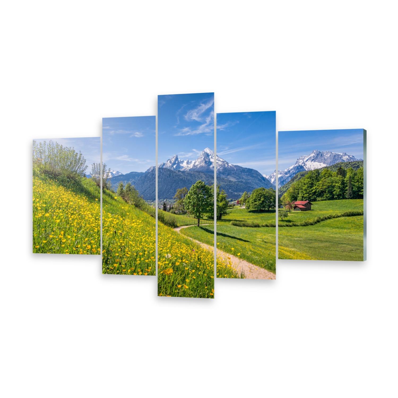Mehrteilige Bilder Glasbilder Wandbild Idyllische Alpen