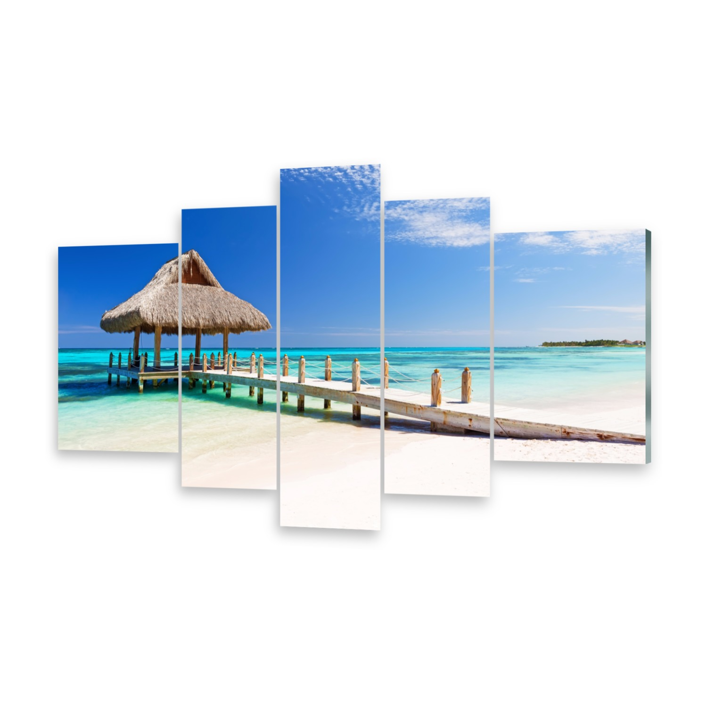Mehrteilige Bilder Glasbilder Wandbild Sandstrand