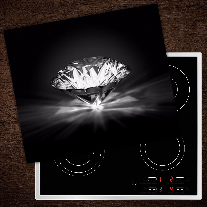 Herd-Abdeckplatte Ceranfeld-Abdeckung Diamanten 3x32x54 SONDERANFERTIGUNG
